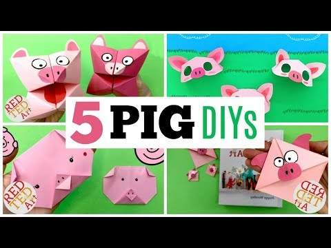 5 Paper Pig Crafts For Kids - Seriously Cute DIY Pigs Made From Paper