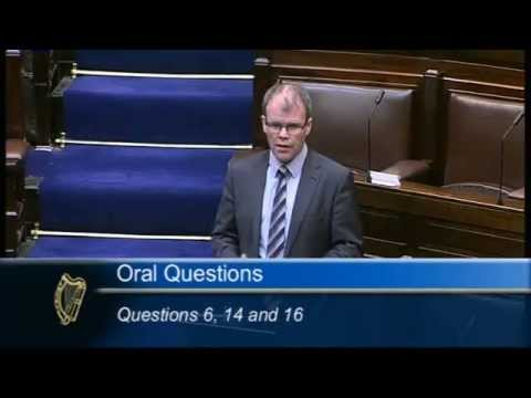 Peadar Tóibín TD confronts government over failure to develop all-Ireland integration and trade
