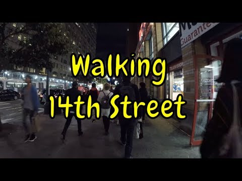 ⁴ᴷ Walking Tour of 14th Street, NYC in its entirety from West Side Highway to the East Village