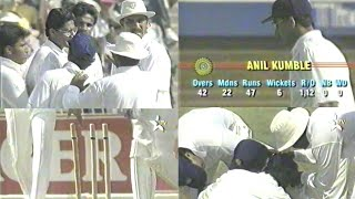 Anil Kumble MAGICAL Spell Of  6-53 vs South Africa | 2nd Test | Johannesburg, 1992 | *RARE GOLD*