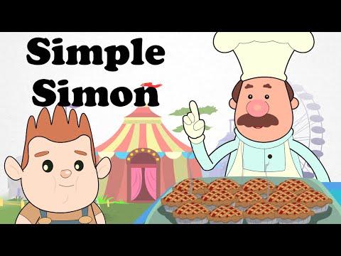 Simple Simon Met a Pie Man | Cartoon Nursery Rhymes Songs For Children