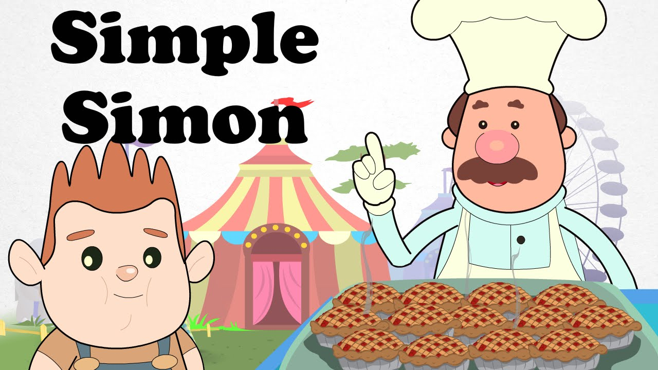 simple simon met a pie man cartoon nursery rhymes songs for children youtube. Black Bedroom Furniture Sets. Home Design Ideas