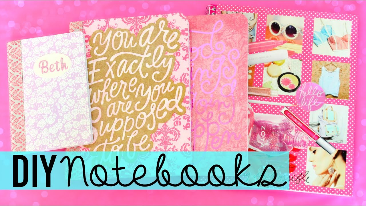 Back to school diy personalize your notebooks youtube for Back to school notebook decoration ideas