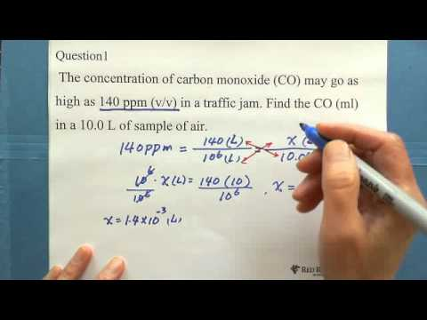 9. Concentration of a Solution: Parts per Million (ppm) (2)