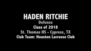 Haden Ritchie - 2017 Texas Draw