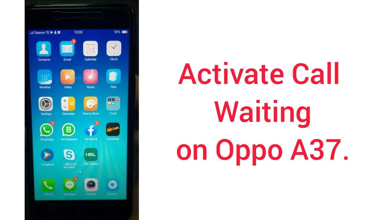 oppo a3s call waiting activate 2019