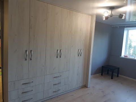 Квартира-студия. Шкаф вместо стены.Небольшая Кухня