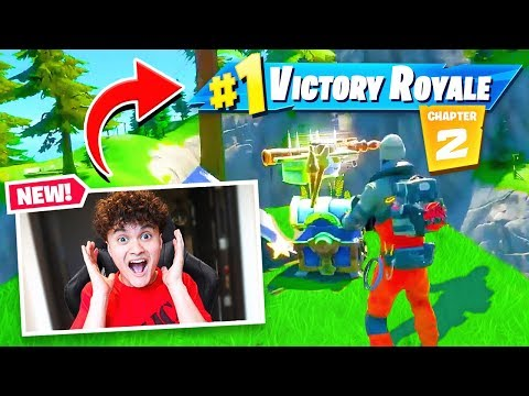 My Little Brother Plays Fortnite CHAPTER 2 For First Time! (Season 11)