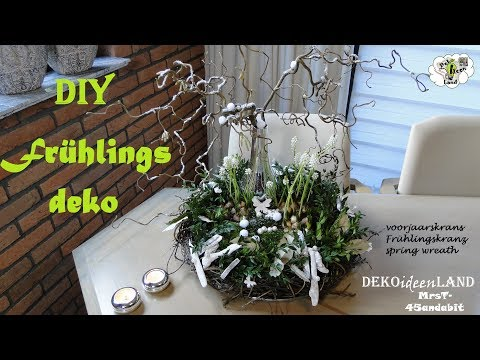 DIY Frühlingsdeko für den Tisch I Frühlingskranz I voorjaarskrans I Spring wreath DekoideenLand