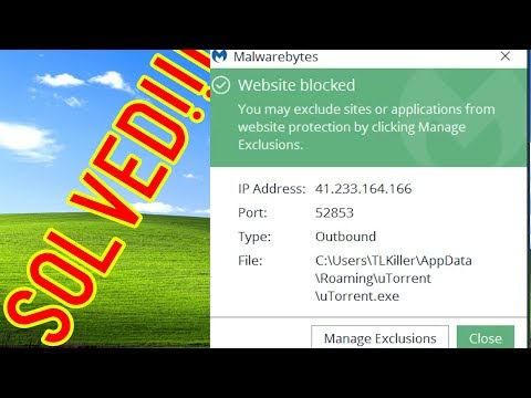 """How to stop Malwarebytes from blocking utorrent """"Website Blocked"""" from YouTube · Duration:  1 minutes 3 seconds"""
