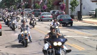 Two Wheel Thunder TV films the Leathernecks Nation MC driving in Westerville OH