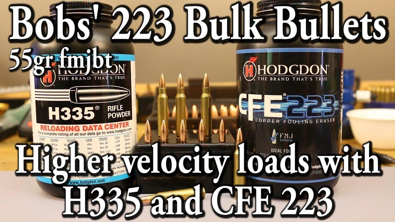 Bobs' 223 Bulk Bullets - higher velocity this time!