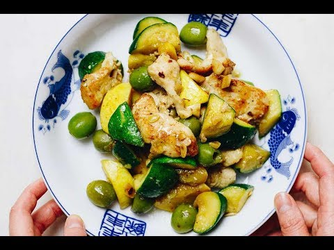 Easy Chicken Zucchini Stir Fry With Olives | Paleo Meal Prep Recipe