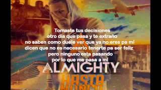 Almighty - Hasta Nunca (Letra)