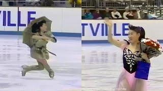 """伊藤みどり Midori Ito - 1992 Albertville Olympics Exhibition """"Over The Rainbow"""", """"On My Own"""""""