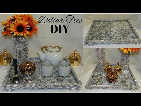 Dollar Tree DIY VanityTray/Display Tray| DIY Dollar Tree Glam Home Decor Idea 2019