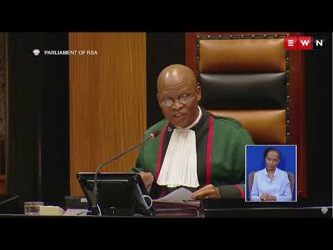 Chief Justice Mogoeng Mogoeng reads Jacob Zuma's resignation letter