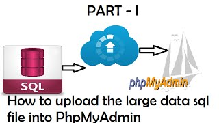 How to Upload / import the large data sql file in PhpMyAdmin Part - I