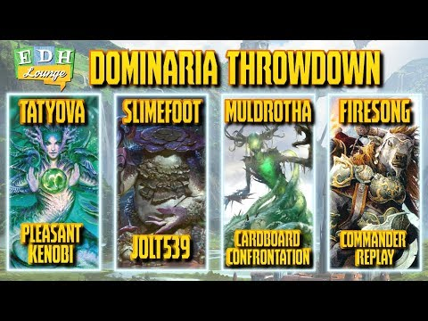 The EDH Lounge - Dominaria Throwdown: Tatyova vs Slimefoot vs Muldrotha vs Firesong and Sunspeaker