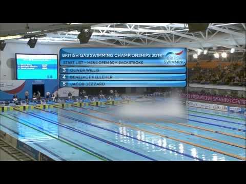 British Gas Swimming Championships 2014 - Heats Day Three