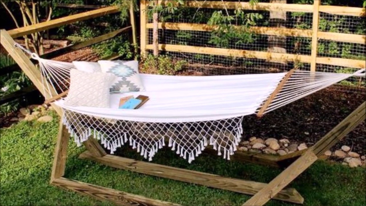 Delightful DIY Standing Hammock Free Stand   Step By Step Tutorial