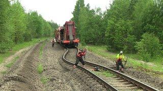 Выброс пути / Railway track buckle thumbnail