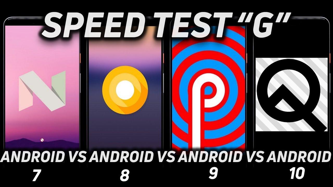 Android 10 vs Android 9.0 vs Android 8.1 vs Android 7.1.2