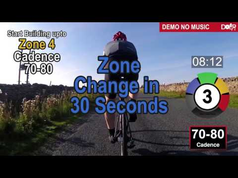 60 minutes indoor cycling hill climbs North Yorkshire UK