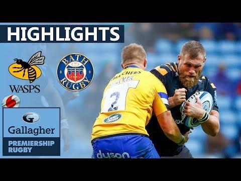 Wasps 30-22 Bath - HIGHLIGHTS | Shields Scores First Premiership Try | Gallagher Premiership 2019/20