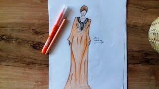 Arabic Dress Drawing