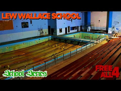 Exploring the Abandoned Lew Wallace High School (HUGE POOL!)