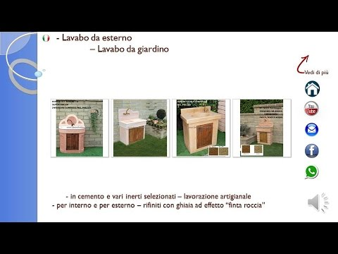 lavabo da esterno lavabo da giardino - YouTube