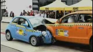 Audi Q7 vs. Fiat 500 CRASH TEST