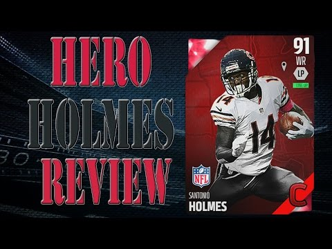 Campus Hero Santonio Holmes Review | Player Review | Madden 16 Ultimate Team Gameplay | MUT 16