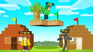 I BUILT A SKYBLOCK Island ABOVE My Friends HOUSE! (Minecraft TROLL)
