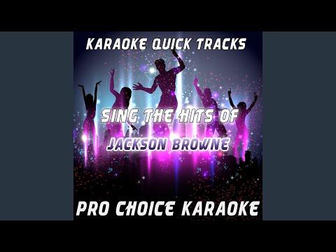Here Come Those Tears Again (Karaoke Version) (Originally Performed By Jackson Browne) mp3