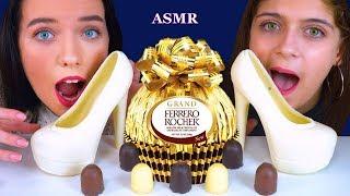 ASMR EATING GIANT FERRERO ROCHER BOWLS, EDIBLE CINDERELLA SHOES, CHOCOLATE DESERTS