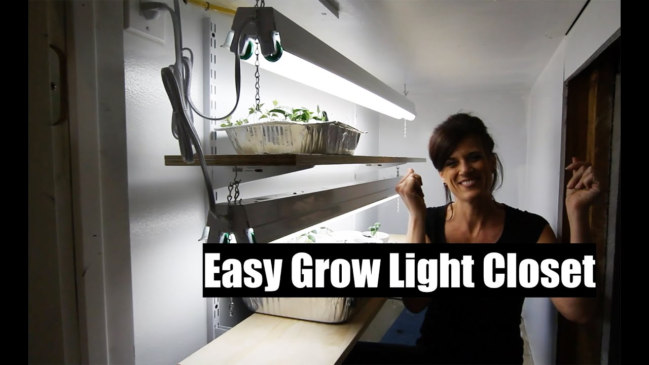 how to build an easy diy indoor grow light closet for veggie