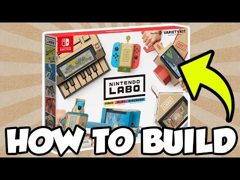 How To Build Nintendo Labo: Toy-Con 01 Variety Kit! [🔴LIVE]