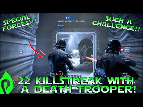 22 Killstreak With A Death Trooper In Star Wars Battlefront 2