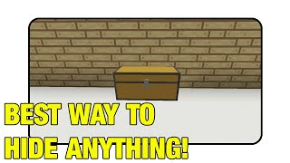 "Best Way To Hide Anything In Minecraft! ""Tutorial""(Minecraft Xbox/Ps3/Pc)"
