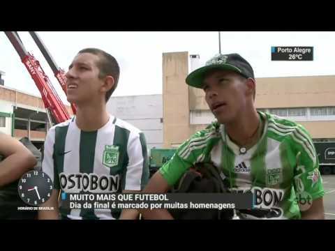 Homenagens tomam conta de Chapecó antes da decisão da Recopa - SBT Brasil (04/04/17)