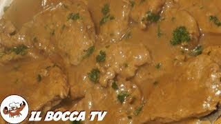 58 - Scaloppine alla livornese...al di sopra delle attese(secondo piatto toscano facile e nutriente)