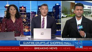 Man hospitalized after shooting at Langley mall