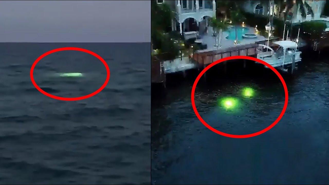 """Misteriosas """"Luces"""" aparecen en el Océano (alrededor de Todo el Mundo) - 2021"""