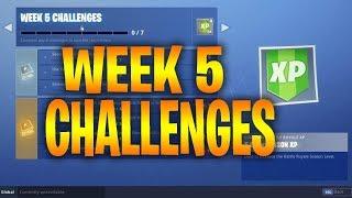 Fortnite SEASON 7 - WEEK 5 CHALLENGES Leaked