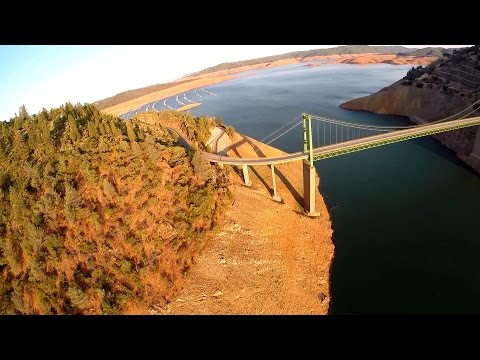 California Drought Watch: Oroville Reservoir Disappearing