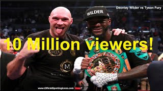 10m PEOPLE WATCHED DEONTAY WILDER vs TYSON FURY ILLEGALLY!!