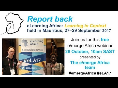 e/merge Africa at eLearning Africa 2017: Report back
