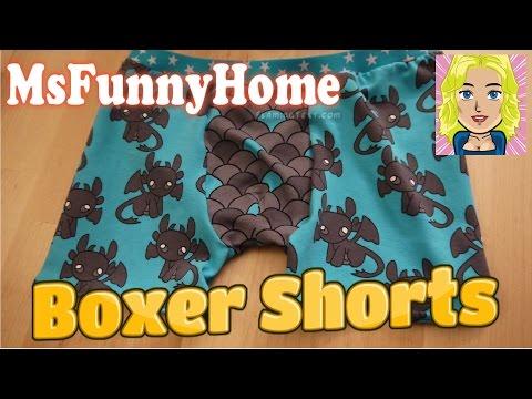 Anleitung und Schnitt zum Nähen : Boxer Shorts – Jersey Schnittmuster Underwear